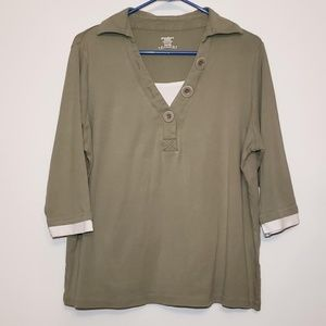Dress Barn womens 3/4 sleeve shirt size 14-16